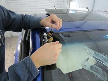 Способ ремонта стекла