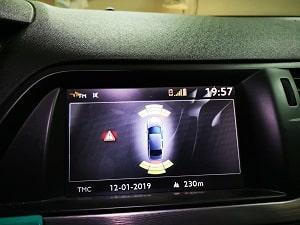 Передний и задний парктроник на штатный монитор