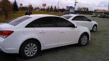 Тонирование стекол на Chevrolet Cruze